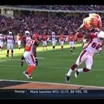 Hihetetlen jelenet - A szezon legfantasztikusabb touchdownja (videó)