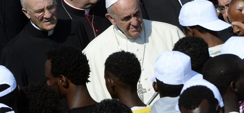 A pápa szerint az Úr a migránsokkal van