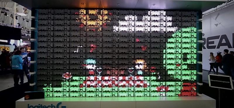 160 billentyűzetből csináltak egy óriási képernyőt – videó