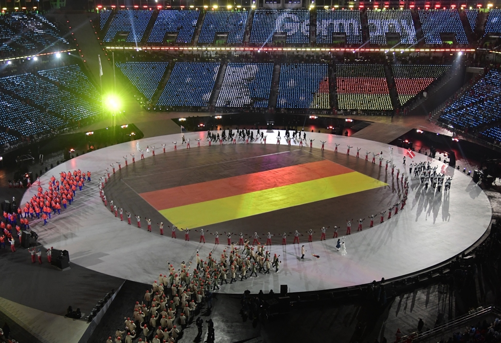 afp.18.02.09. - Téli Olimpia 2018 - Megnyitó Német Csapat bevonulása