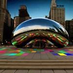 Színes-szagos zenélő park Chicago-ban