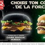 Koromfekete Darth Vader hamburger a francia gyorsétteremlánctól