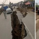 Szétnyílt a föld: durva fotók jöttek Pakisztánból, ahol 5,8-as földrengés volt