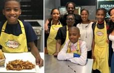 11 évesen éttermet nyitott