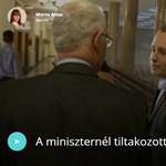 Egyenesen Balog Zoltánnál tiltakozott egy középiskolás fiú tegnap