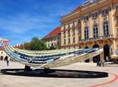Öttonnás acélbálna vetődött partra Bécsben