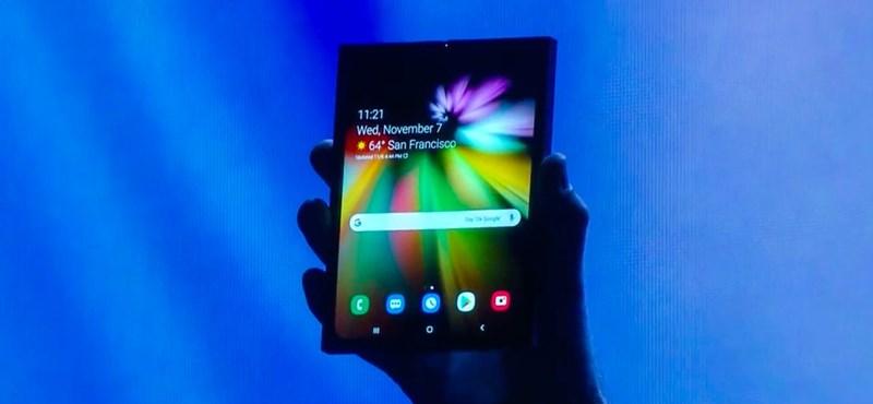Itt a nagy bejelentés: a Samsung bemutatta az összehajtható telefont