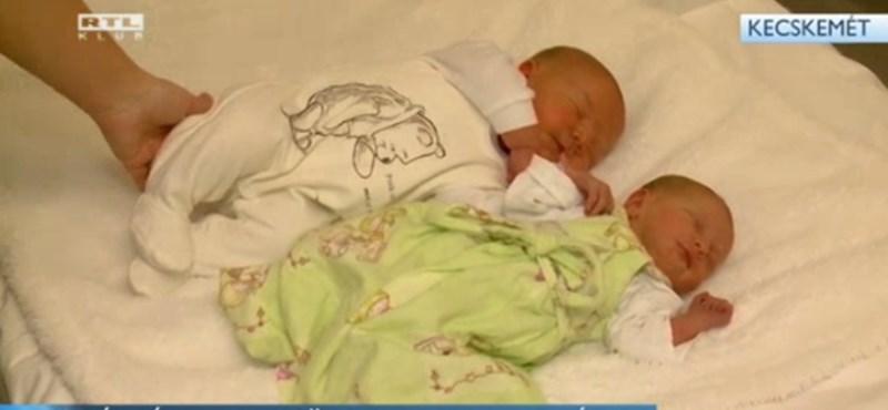 Videó: óriásbébi született Kecskeméten
