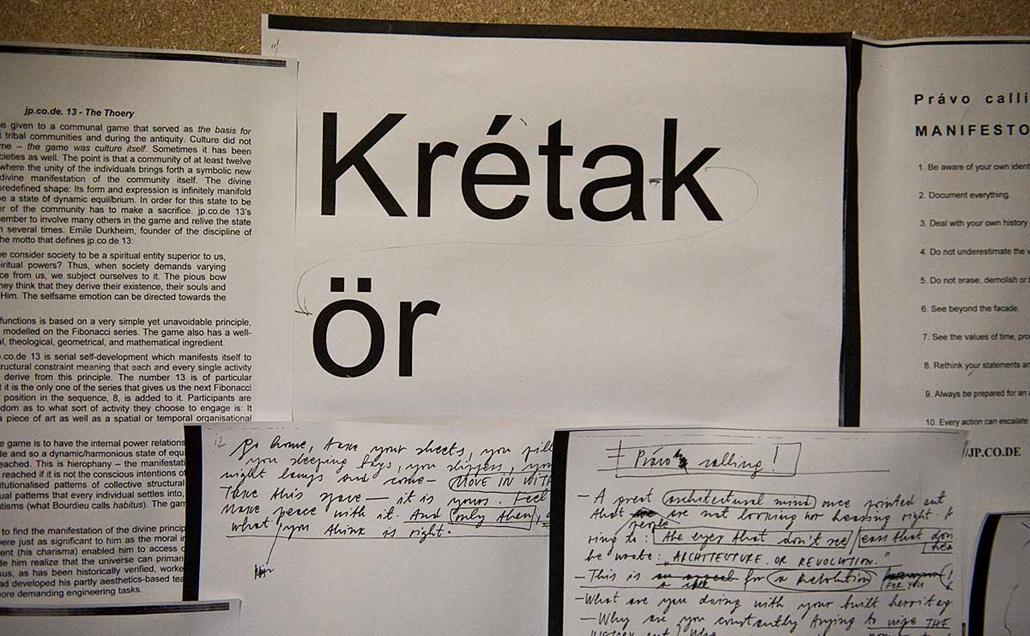 Krétakör kisérlet, előadás Prágában