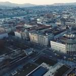 Drónvideón a Deák téri taxisblokád
