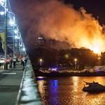 Fotók: így lángolt a rigai államfői rezidencia