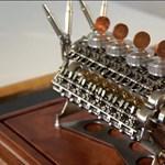 Íme a világ legkisebb működő 32 hengeres motorja – videó
