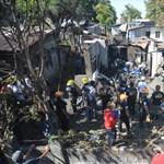 Lakóházra zuhant egy kisrepülő Manilában