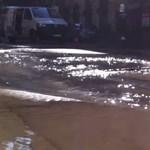 Hömpölygött a víz az Alagútnál, de pincékbe nem jutott be – fotók, videó