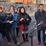 Márki-Zay Péter meghekkelte a Fidesz sajtótájékoztatóját Hódmezővásárhelyen - videó
