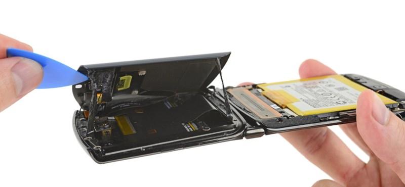 Szétszedték a Motorola feltámasztott mobilját, aztán nagyon lehúzták a szakik