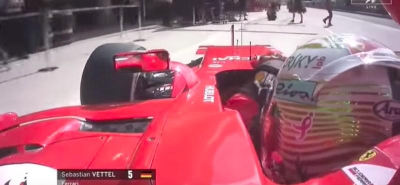 Az Amerikai Nagydíj legviccesebb bakiját Vettel hozta össze – videó