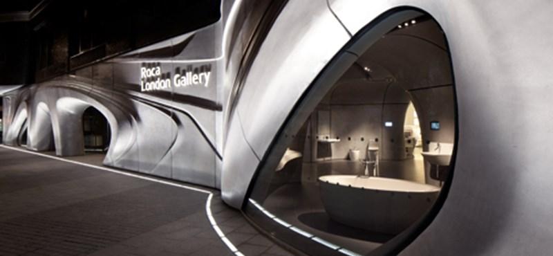 Zaha Hadid fürdőszobaboltja Londonban