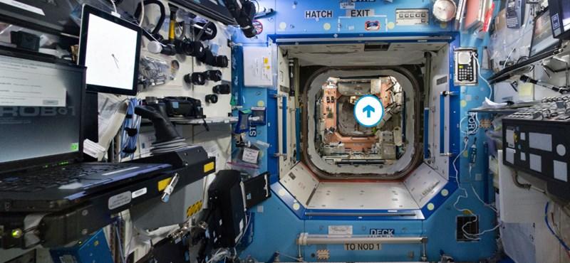 Lássa, amit az űrhajósok is: így tehet virtuális sétát a Nemzetközi Űrállomáson