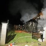 Fotó a felrobbant bátornyterenyei házról