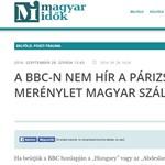 Kiakadtak a Magyar Időknél, hogy a BBC-n nem találták az írásukat