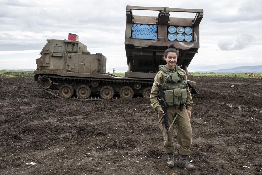 afp.18.02. AFP Nőnap Amit Malekin izraeli 19 éves katona a Golán fensíkon