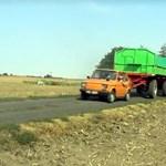 Olyan kemény ez a Kispolszki, hogy traktornak használják - videó
