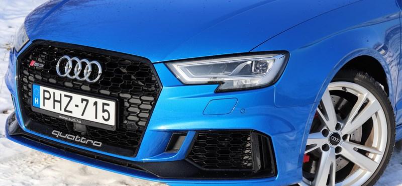 Lopakodó Porsche-gyilkos: teszten a Győrben gyártott családi sportkocsi, az Audi RS3