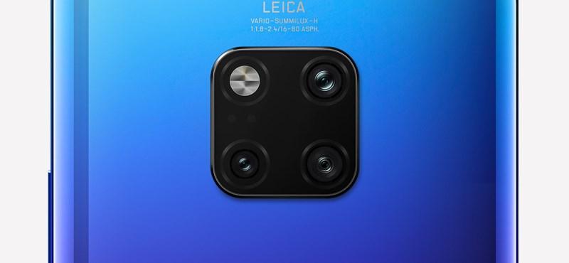 Két 40 megapixeles lencse is kerülhet a Huawei új csúcsmobiljára