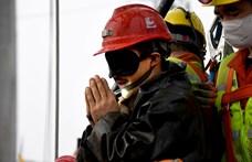 Kilenc napig nem ettek a mélyben rekedt kínai bányászok