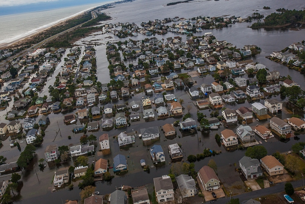 Házak víz alatt South Bethany városában - Sandy Hurrikán