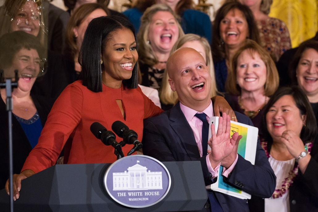 afp.17.01.06. Michele Obama, leköszönő first lady utolsó nyilvános beszéde.