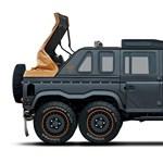 Nettó páváskodás, de páratlanul néz ki ez 6x6-os Land Rover