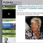 Meghalt Puskás Ferenc lánya