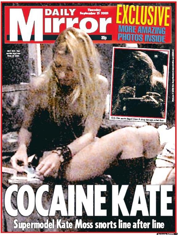 afp. Kate Moss szupermodell 40 éves - nagyítás - mirror címlap, drogozás, kokain