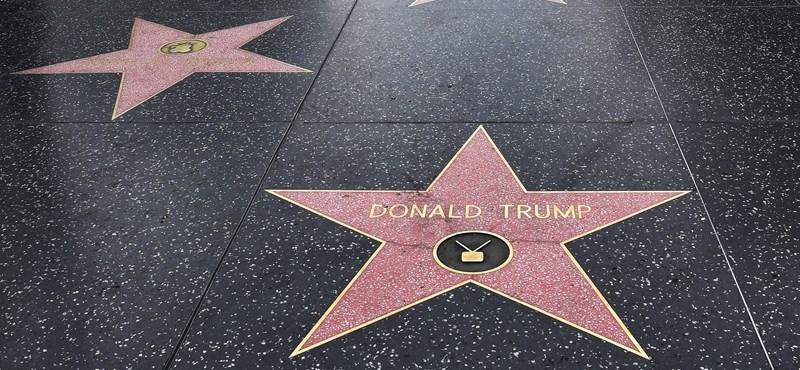 Megrongálták Donald Trump csillagát a hollywoodi Hírességek Sétányán