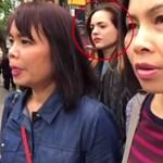 Szelfizés közben két gyalogos véletlen felvette a tolvajokat, akik kizsebelték őket - videó