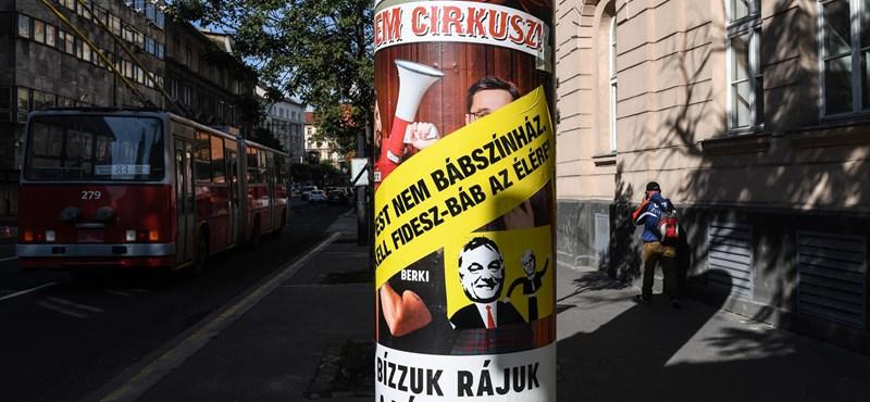Meghekkelték a Fidelitas cirkuszos plakátjait Budapesten