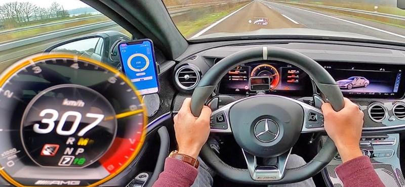 Kihajtották a 307 km/h-s maximumot a Mercedes-AMG E63 S-ből – videó