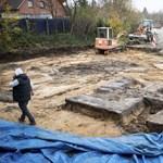 Óriási beton horogkeresztet találtak egy építkezésen Hamburgban