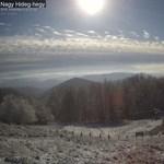 Nézze élőben, ahogy épp most havazik a Börzsönyben!