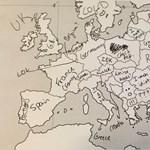"""Magyarország = """"fura cicik"""" – amerikaiak próbálták kitölteni az európai vaktérképet"""