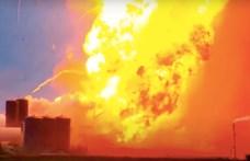 Felrobbant a SpaceX Starship űrhajó/rakéta új prototípusa – videó