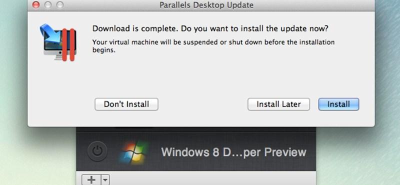 Parallels 7 frissítés: hivatalos Windows 8 DP támogatás