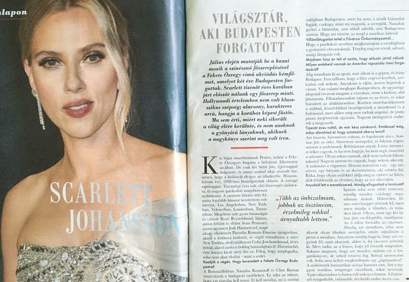 Scarlett Johansson's interview isn't the first suspicious article in Anikó Návai's career