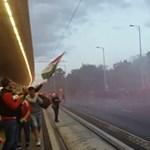 Már füstben úszik a Népliget a magyar–szlovák meccs előtt – videó