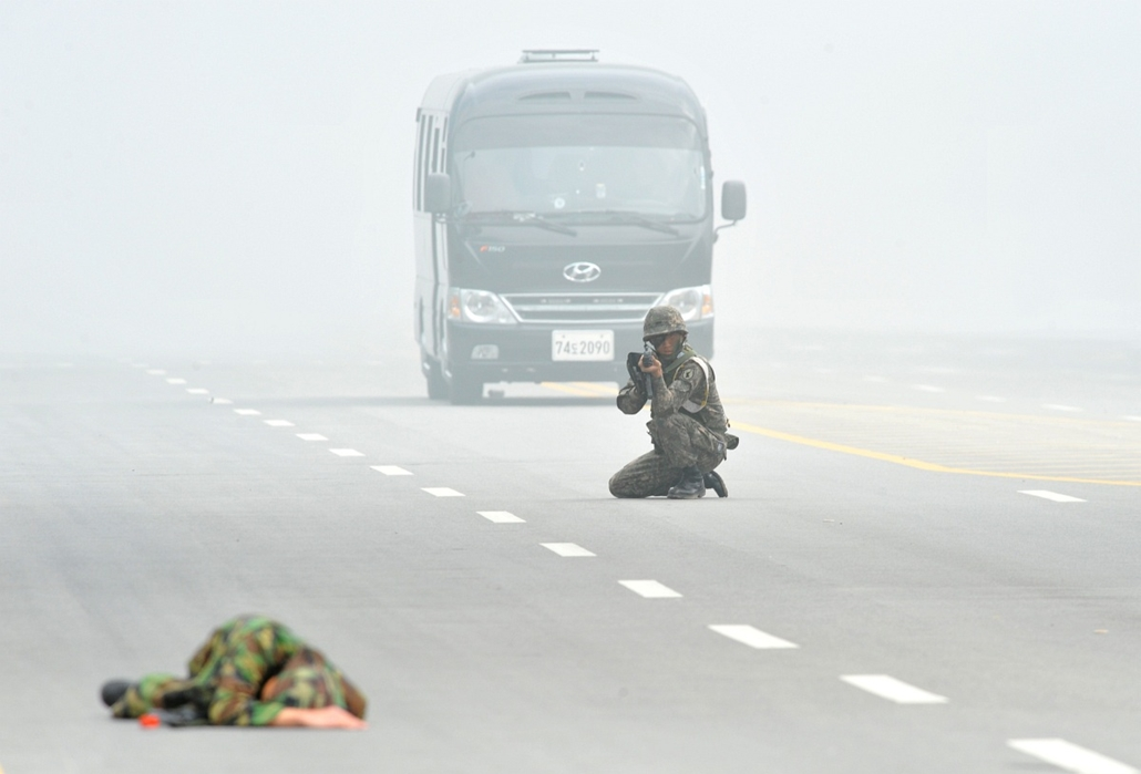 Dél-koreai katona, gyakorlat, Szöul