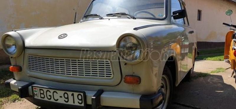 2 millió forintot kérnek ezért a szép kis tiszafüredi Trabantért