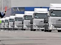 Elindulnak Európába a Hyundai hidrogén kamionjai