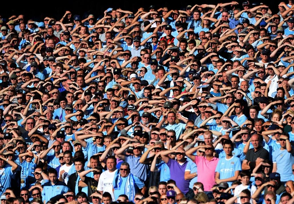 13.09.22. - Manchester, Egyesült Királyság: Manchester City szurkolók az Etihad stadionban - évképei, az év sportképei